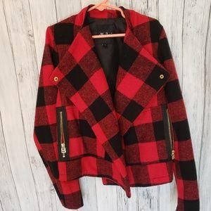 Me Jane Jackets & Coats - Me Jane Girls Plaid Jacket
